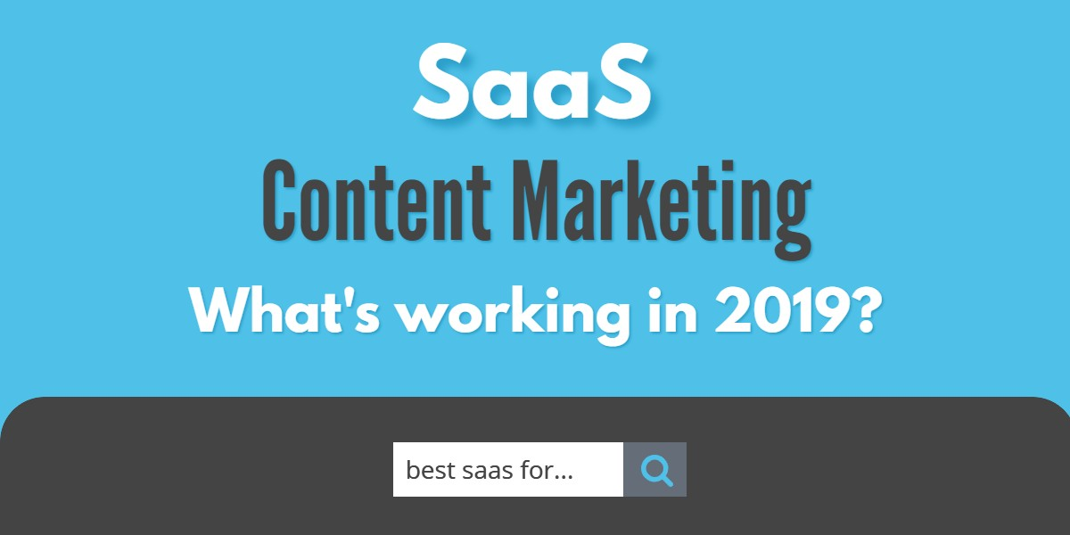 saas content marketing data